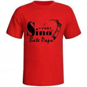 Camiseta Samba do Sino Bate Papo - Vermelha