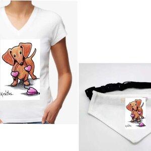 Kit : Baby Look + Coleira bandana Dachshund