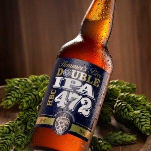 Cerveja Artesanal Double IPA HBC 472- 500 ml