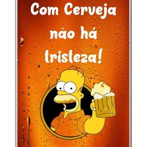 Placa mdf sublimada Homer Cerveja