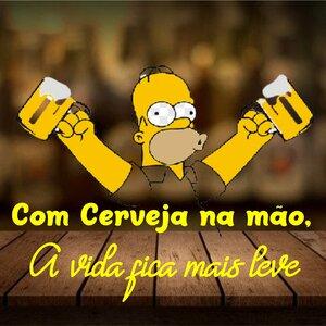 Placa mdf sublimada Frase Cerveja