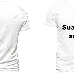 Camisetas 'Sua Arte Aqui' com sua Logo personalizada