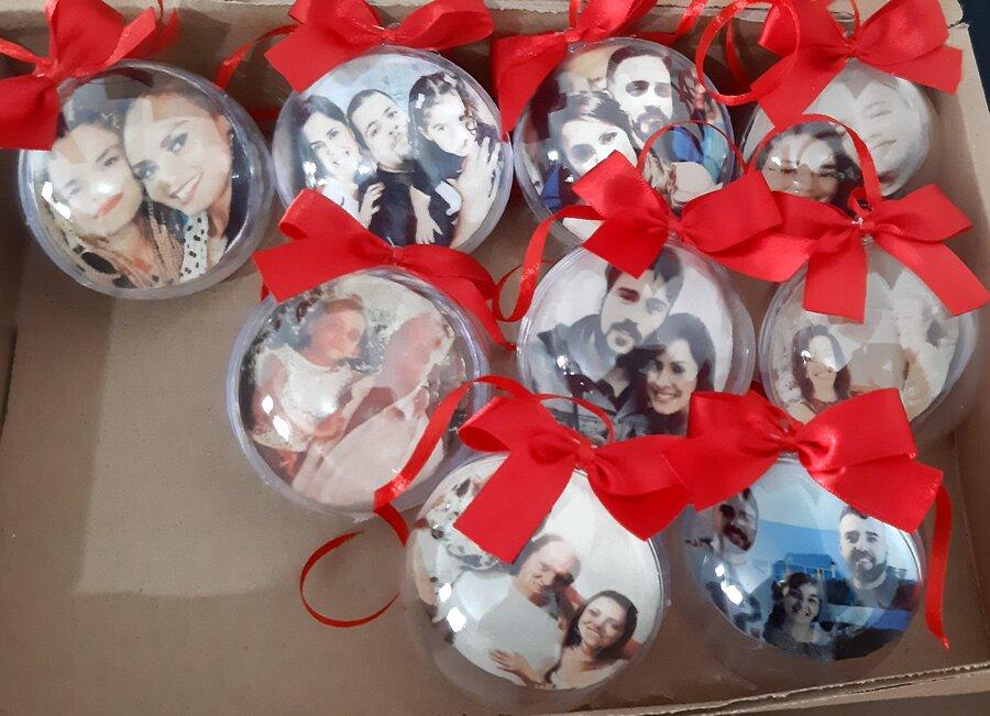 Bolinhas de Natal personalizada