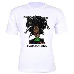 Camiseta branca - PDZ PodcastZinho Cultura Pop