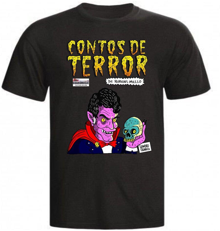 Camiseta preta Contos de Terror - Rubens Mello