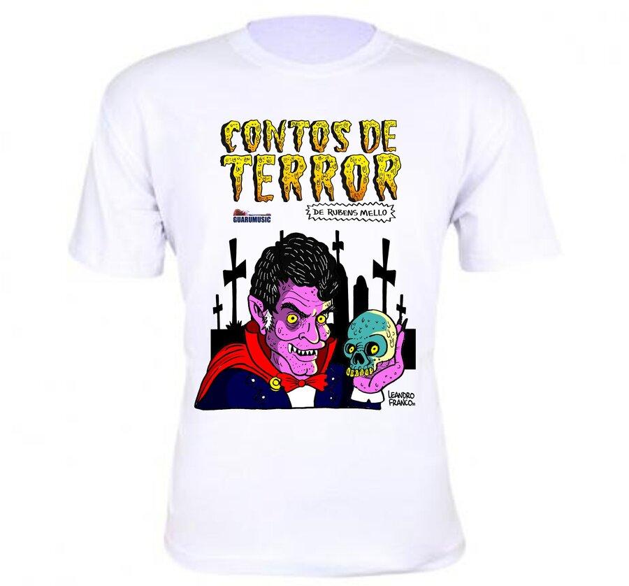 Camiseta Branca - Contos de Terror Rubens Mello